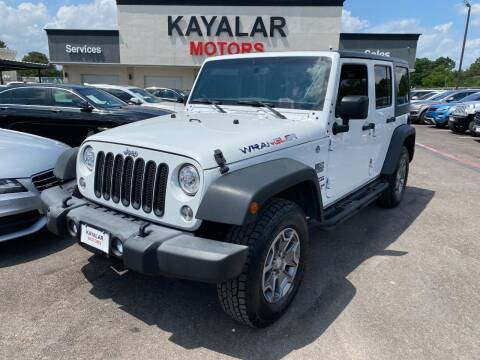 2017 Jeep Wrangler Unlimited for sale at KAYALAR MOTORS in Houston TX