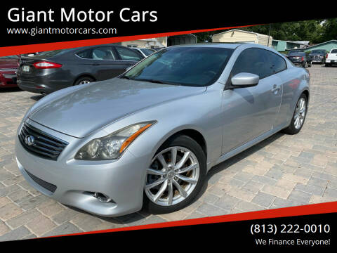 2011 Infiniti G37 Coupe for sale at Giant Motor Cars in Tampa FL