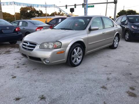 2002 Nissan Maxima for sale at SKYLINE AUTO SALES LLC in Winter Haven FL