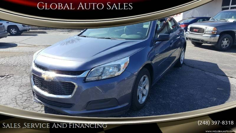 2014 Chevrolet Malibu for sale at Global Auto Sales in Hazel Park MI