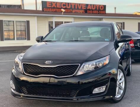 2014 Kia Optima for sale at Executive Auto in Winchester VA