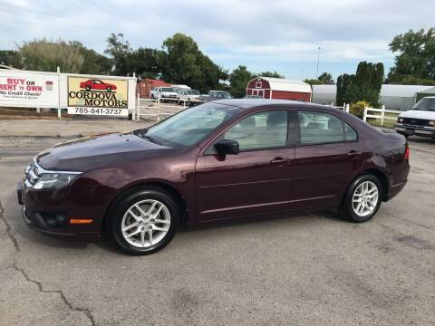2012 Ford Fusion for sale at Cordova Motors in Lawrence KS