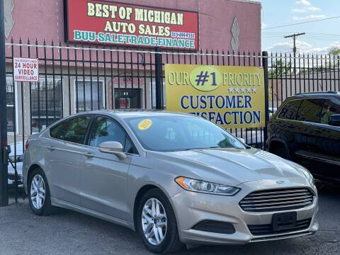 2015 Ford Fusion for sale at Best of Michigan Auto Sales in Detroit MI