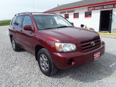 2005 Toyota Highlander for sale at Sarpy County Motors in Springfield NE