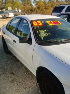 2003 Chevrolet Cavalier for sale at Finish Line Auto LLC in Luling LA