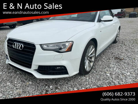 2017 Audi A5 for sale at E & N Auto Sales in London KY