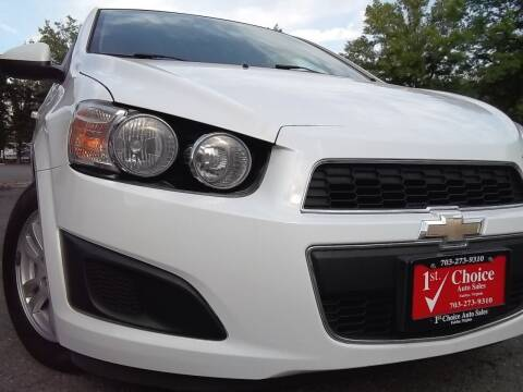 2012 Chevrolet Sonic for sale at 1st Choice Auto Sales in Fairfax VA