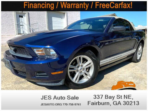 2010 Ford Mustang for sale at JES Auto Sales LLC in Fairburn GA