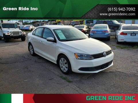 2012 Volkswagen Jetta for sale at Green Ride Inc in Nashville TN