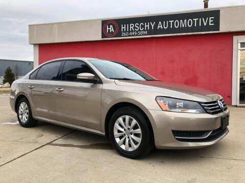 2015 Volkswagen Passat for sale at Hirschy Automotive in Fort Wayne IN