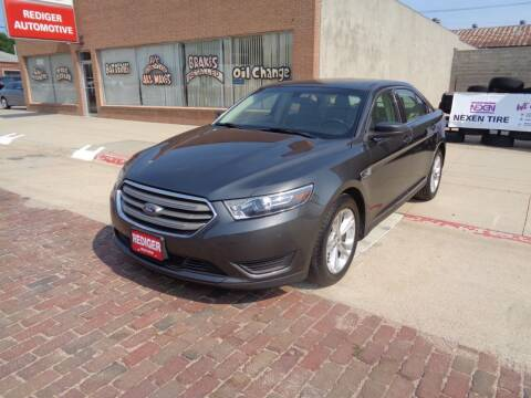 2017 Ford Taurus for sale at Rediger Automotive in Milford NE