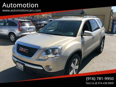 2011 GMC Acadia for sale at Automotion in Roseville CA
