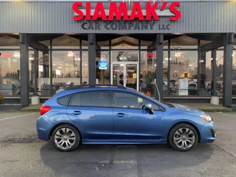 2014 Subaru Impreza for sale at Siamak's Car Company llc in Salem OR