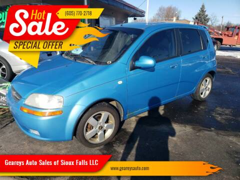 2006 Chevrolet Aveo for sale at Geareys Auto Sales of Sioux Falls, LLC in Sioux Falls SD
