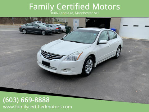 2010 Nissan Altima for sale at Family Certified Motors in Manchester NH