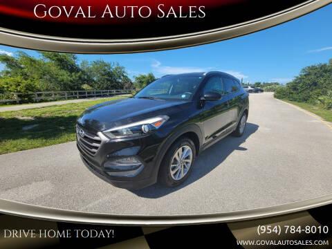 2016 Hyundai Tucson for sale at Goval Auto Sales in Pompano Beach FL