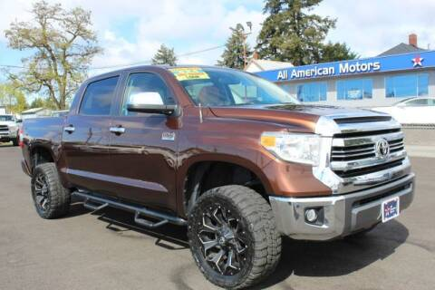 2016 Toyota Tundra for sale at All American Motors in Tacoma WA