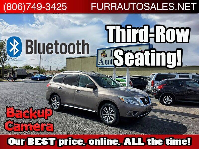 2013 Nissan Pathfinder for sale at FURR AUTO SALES in Lubbock TX