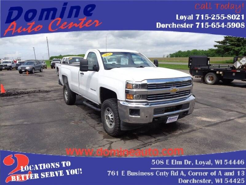 2015 Chevrolet Silverado 2500HD for sale at Domine Auto Center - commercial vehicles in Loyal WI