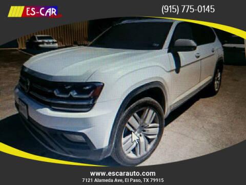 2018 Volkswagen Atlas for sale at Escar Auto in El Paso TX