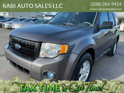 2009 Ford Escape for sale at RABI AUTO SALES LLC in Garden City ID