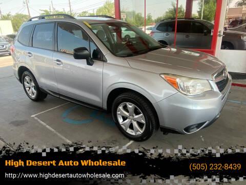 2015 Subaru Forester for sale at High Desert Auto Wholesale in Albuquerque NM