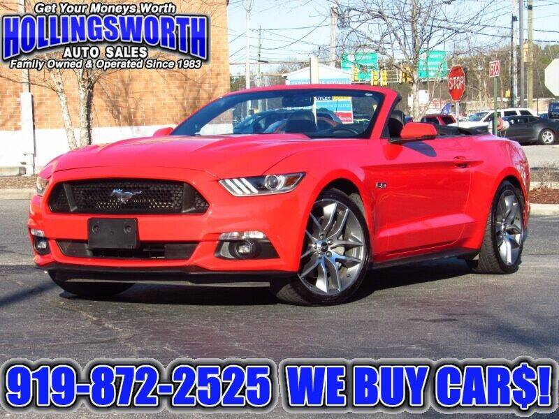 2016 Ford Mustang for sale at Hollingsworth Auto Sales in Raleigh NC