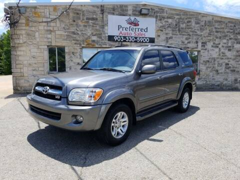 2006 Toyota Sequoia for sale at Preferred Auto Sales in Tyler TX