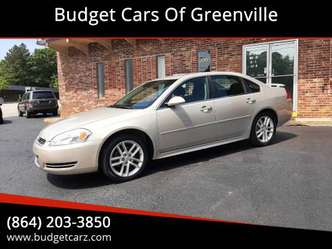 2012 Chevrolet Impala for sale at Budget Cars Of Greenville in Greenville SC