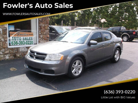 2012 Dodge Avenger for sale at Fowler's Auto Sales in Pacific MO