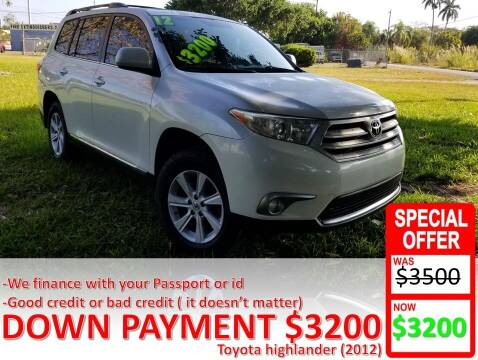 2012 Toyota Highlander for sale at AUTO COLLECTION OF SOUTH MIAMI in Miami FL