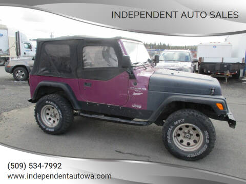 1997 Jeep Wrangler for sale at Independent Auto Sales in Spokane Valley WA
