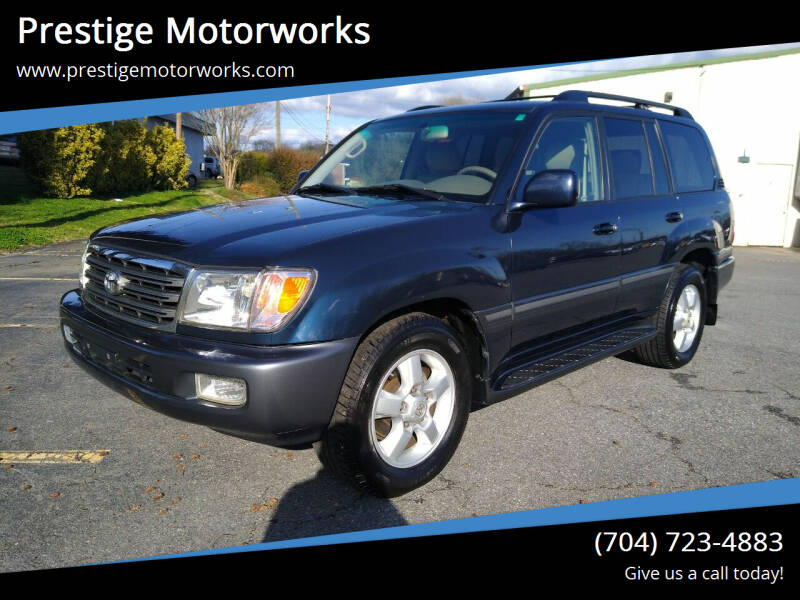 2004 Toyota Land Cruiser for sale at Prestige Motorworks in Concord NC