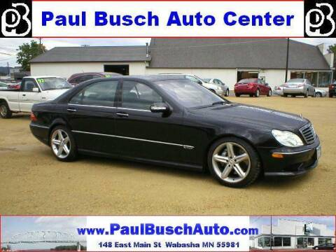 2003 Mercedes-Benz S-Class for sale at Paul Busch Auto Center Inc in Wabasha MN