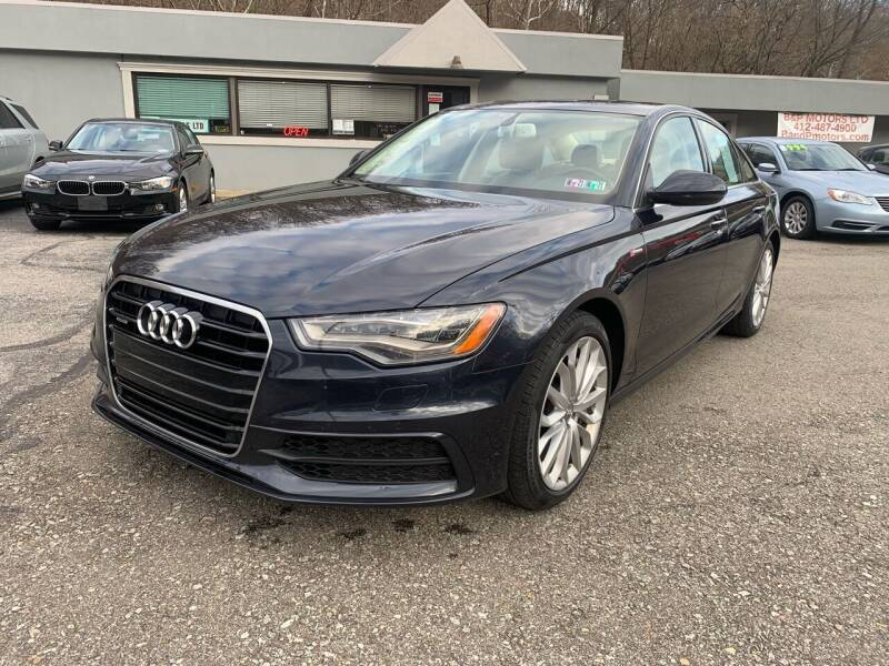 2014 Audi A6 for sale at B & P Motors LTD in Glenshaw PA
