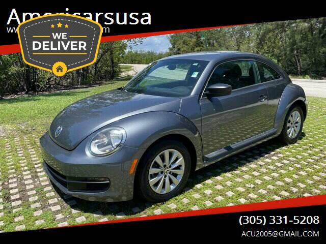 2014 Volkswagen Beetle for sale at Americarsusa in Hollywood FL