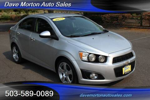 2012 Chevrolet Sonic for sale at Dave Morton Auto Sales in Salem OR