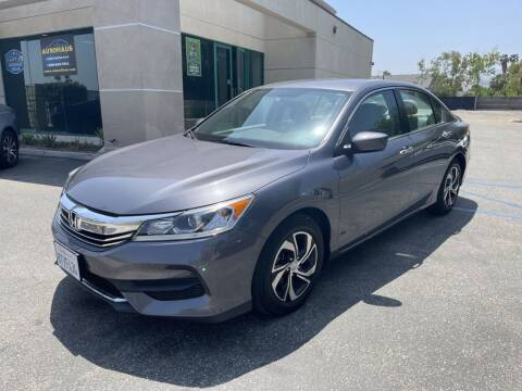2016 Honda Accord for sale at AutoHaus in Colton CA