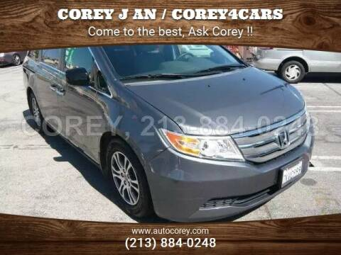 2012 Honda Odyssey for sale at WWW.COREY4CARS.COM / COREY J AN in Los Angeles CA