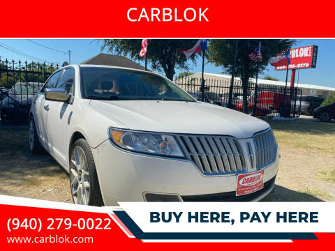 2011 Lincoln MKZ for sale at CARBLOK in Lewisville TX