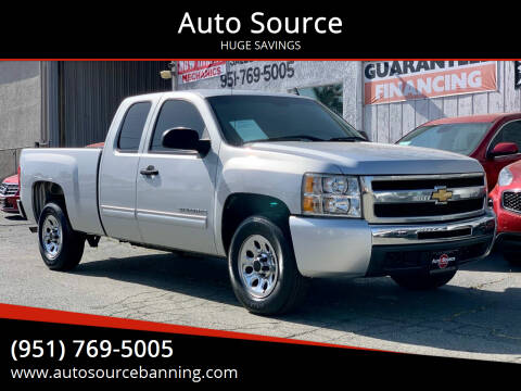 2010 Chevrolet Silverado 1500 for sale at Auto Source in Banning CA
