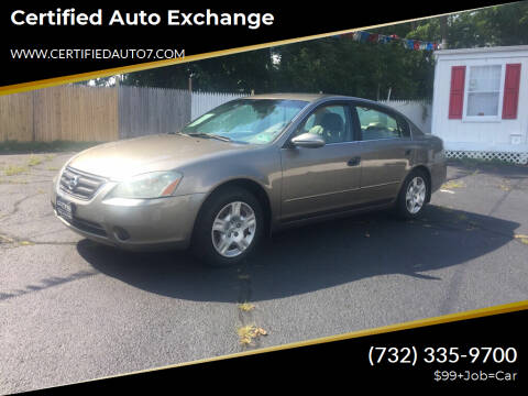 2003 Nissan Altima for sale at Certified Auto Exchange in Keyport NJ