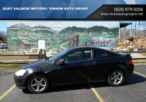 2002 Acura RSX for sale at EAST VALDESE MOTORS / VINSON AUTO GROUP in Valdese NC