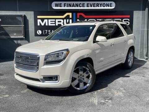 2014 GMC Acadia for sale at Meru Motors in Hollywood FL