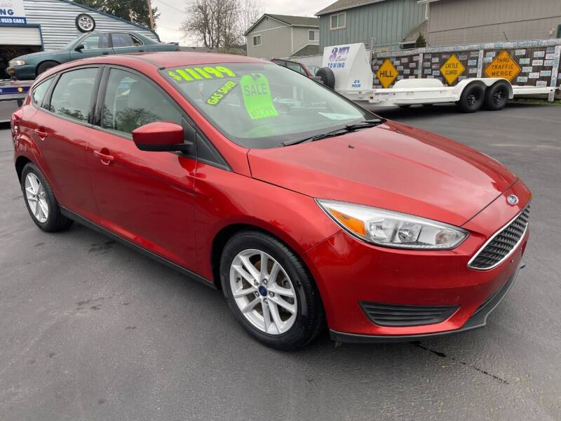2018 Ford Focus for sale at 3 BOYS CLASSIC TOWING and Auto Sales in Grants Pass OR
