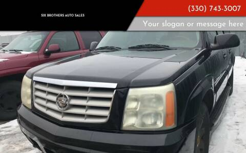 2004 Cadillac Escalade ESV for sale at Six Brothers Auto Sales in Youngstown OH