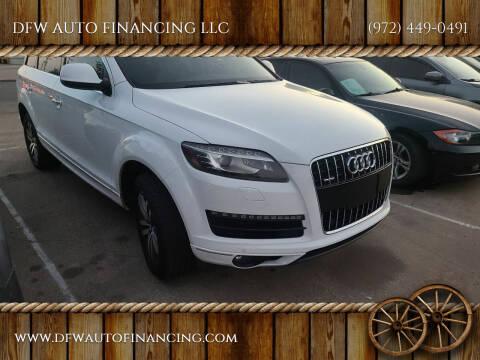 2011 Audi Q7 for sale at Bad Credit Call Fadi in Dallas TX