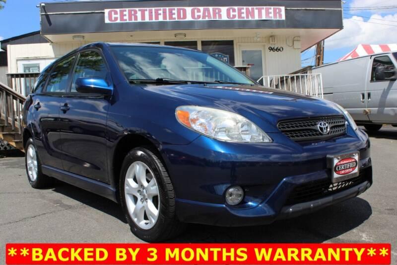 2005 Toyota Matrix for sale at CERTIFIED CAR CENTER in Fairfax VA