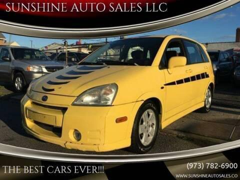 2003 Suzuki Aerio for sale at SUNSHINE AUTO SALES LLC in Paterson NJ