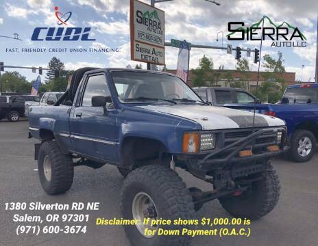 1985 Toyota Pickup for sale at SIERRA AUTO LLC in Salem OR